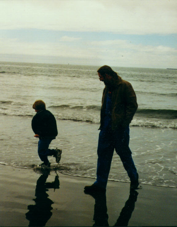 Kegan and Dad at Longbeach, WA