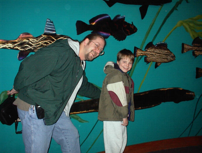 Kegan and Dad at Seattle Aquarium
